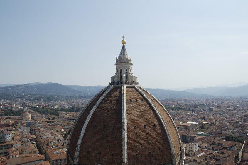 Florence, Dom Santa Maria del Fiore, Blick vom Campanile zur Domkuppel