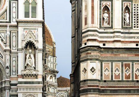 Florence, Dom Santa Maria del Fiore, Westfassade und Glockenturm