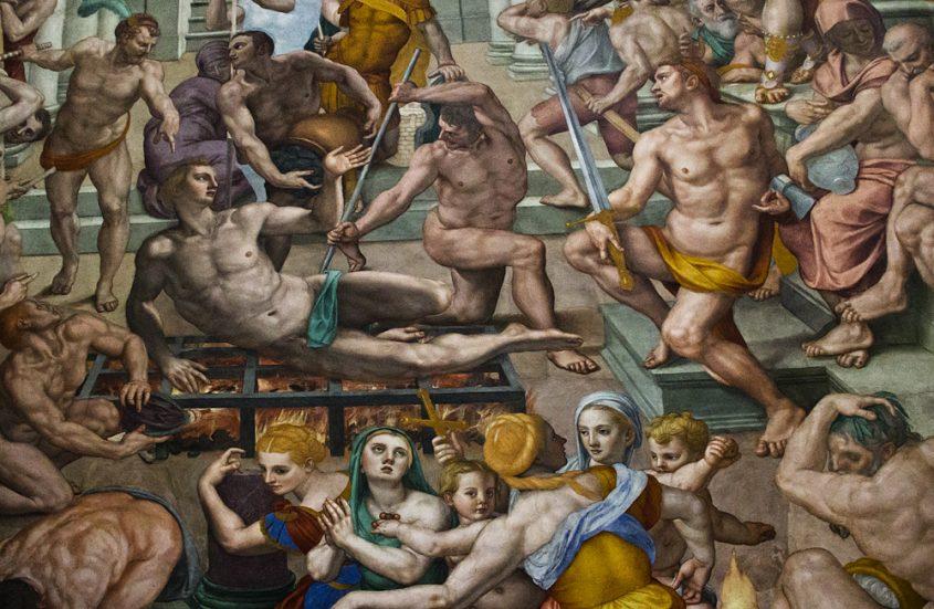 Florenz, Bronzino, Martyrium des Heiligen Laurentius