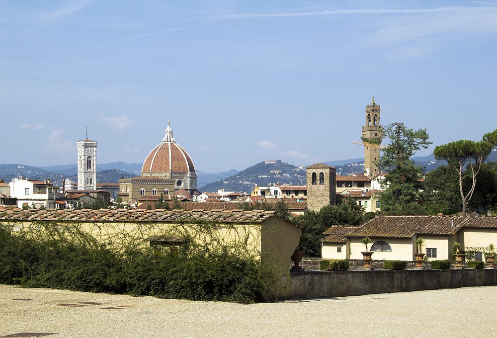 Firenze, Giardino di Boboli, Aussicht zum Dom