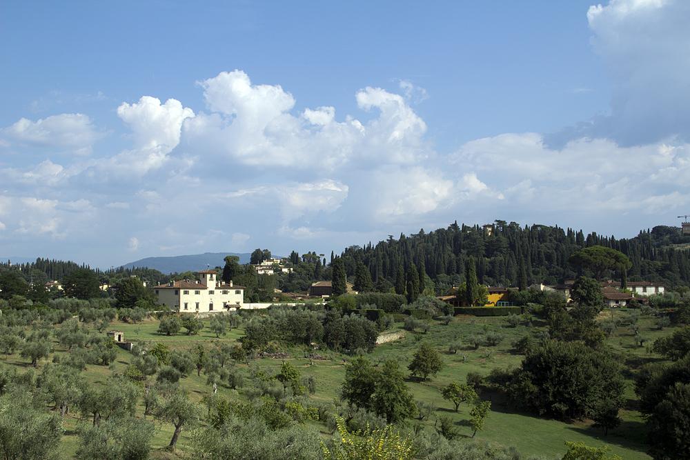 Firenze, Giardino di Boboli,Aussicht vom Kavaliersgarten