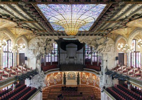 Barcelona, Palau de la Música Catalana, Konzertsaal