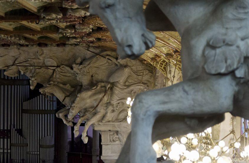 Barcelona, Palau de la Música Catalana, Skulpturen von Pablo Gargallo