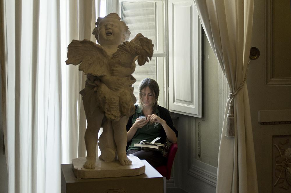 Palazzo Pitti, Galeria d'Arte Moderna, Bambino con Gallo, Adriano Cecioni,