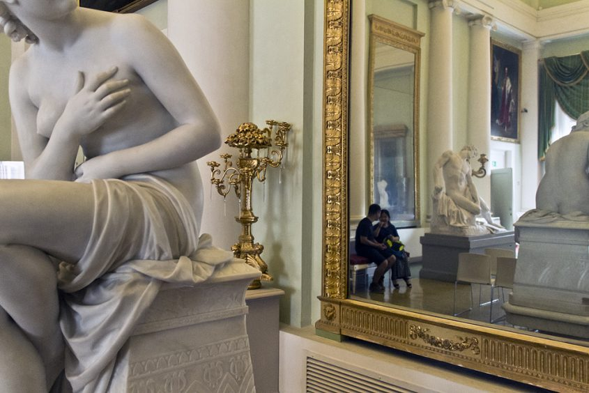 Palazzo Pitti, Galeria d'Arte Moderna, Odoardo Fantacchiotti, Susamma im Bade