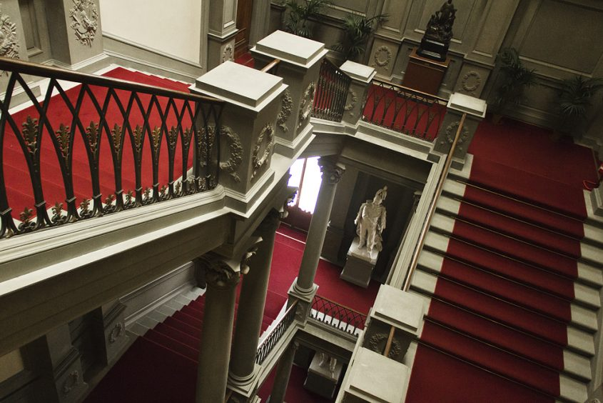 Palazzo Pitti, Galeria d'Arte Moderna, Treppenhaus