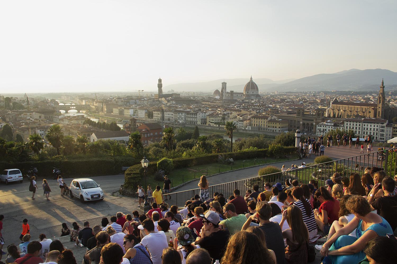 Florenz, Piazzale Michelangelo, Aussicht