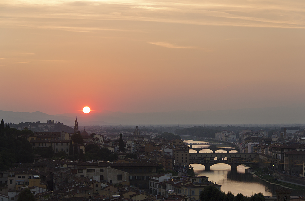 Florenz, Piazzale Michelangelo, Sonnenuntergang