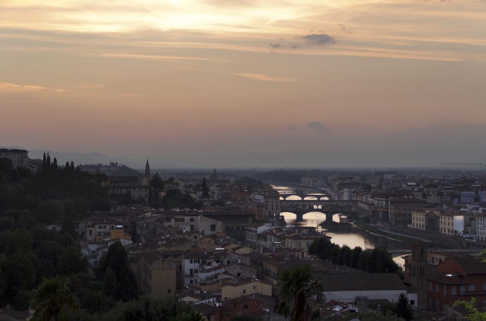 Florenz, Piazzale Michelangelo, Abend
