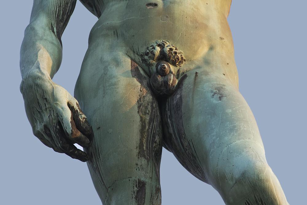 Florenz, Piazzale Michelangelo, Bronzeabguss des David von Michelangelo