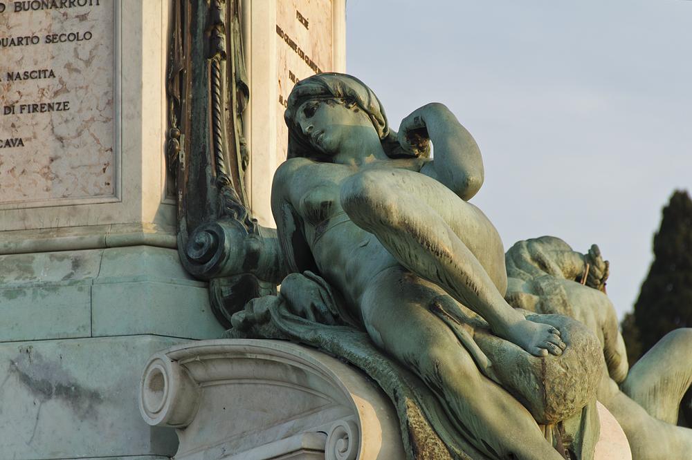 Florenz, Piazzale Michelangelo, Dawn, Bronze