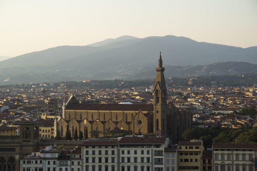 Florenz, Piazzale Michelangelo, Blick zu Santa Croce