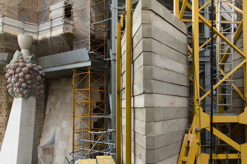 Barcelona, Sagrada Familia, Bauarbeiten an den Türmen