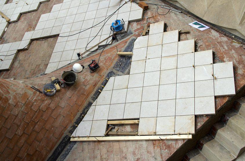 Barcelona, Sagrada Familia, Bauarbeiten