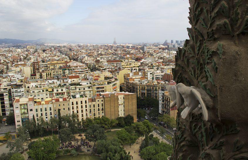 Barcelona, Sagrada Familia, Blick nach Osten