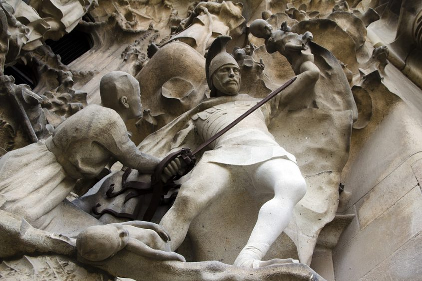 Barcelona, Sagrada Familia, Antoni Gaudi Geburtsfassade (Kindermord zu Bethlehem)