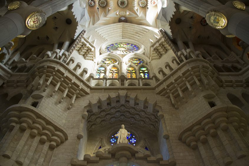 Barcelona, Sagrada Familia, Geburtsfassade innen, Ramón Cuello