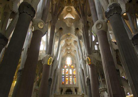 Barcelona, Sagrada Familia,Gaudi, Querschiff