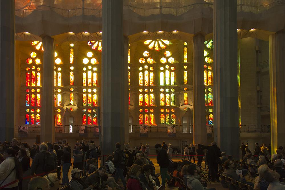 Barcelona, Sagrada Familia, Fenster von Joan Vila-Grau