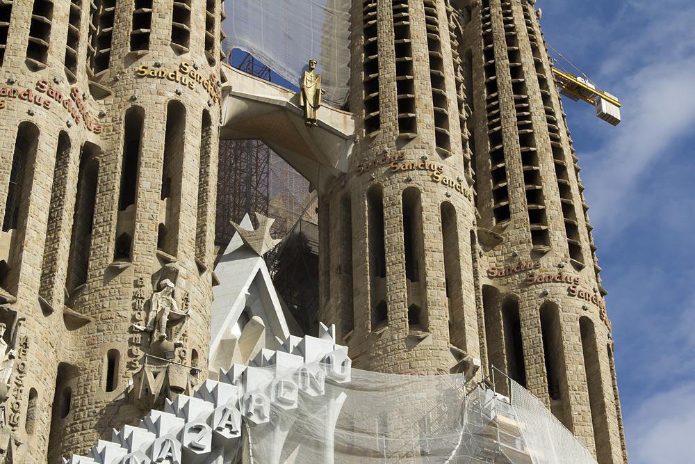 Barcelona, Sagrada Familia, Passionsfassade, Christus