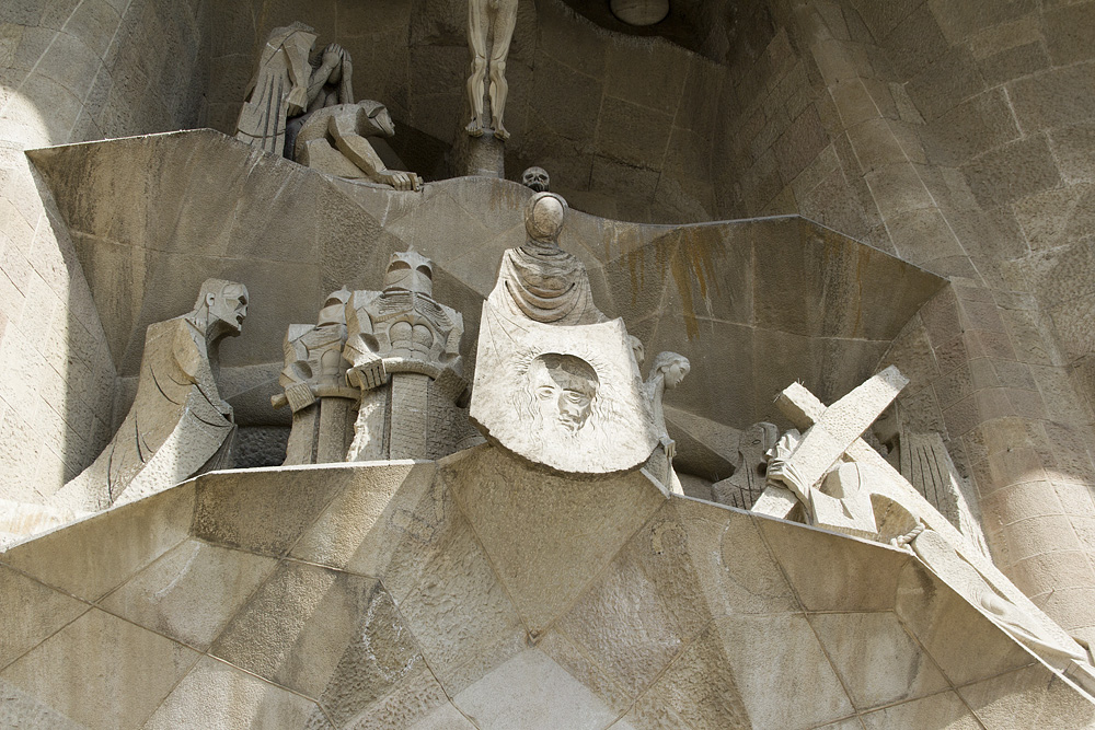 Barcelona, Sagrada Familia, Passionsfassade, Josep Maria Subirachs, Veronika