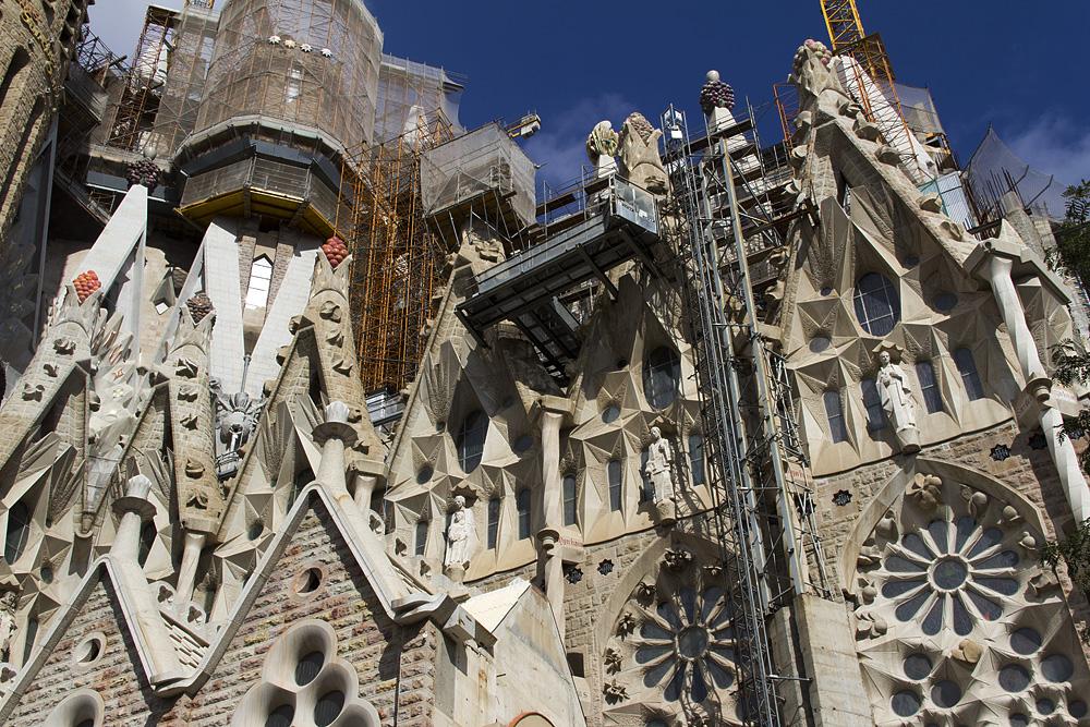 Barcelona, Sagrada Familia, Südseite