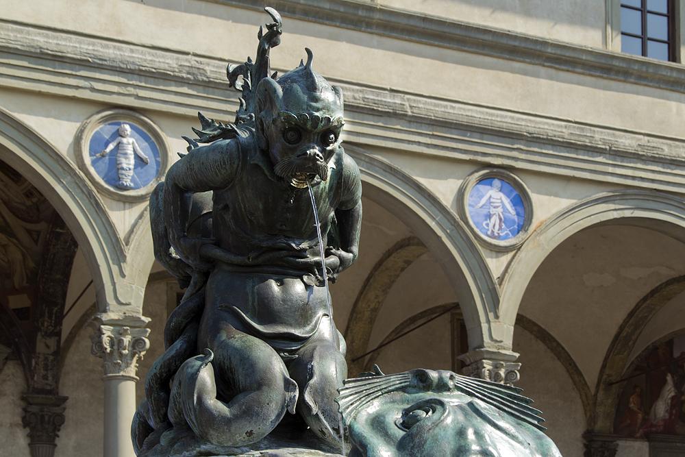 Florenz, Brunnen der Meeresungeheuer, Piazza Santissima Annunziata