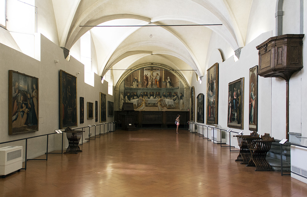 Florenz, San Marco, Kreuzigungsfresko von Giovanni Antonio Sogliano