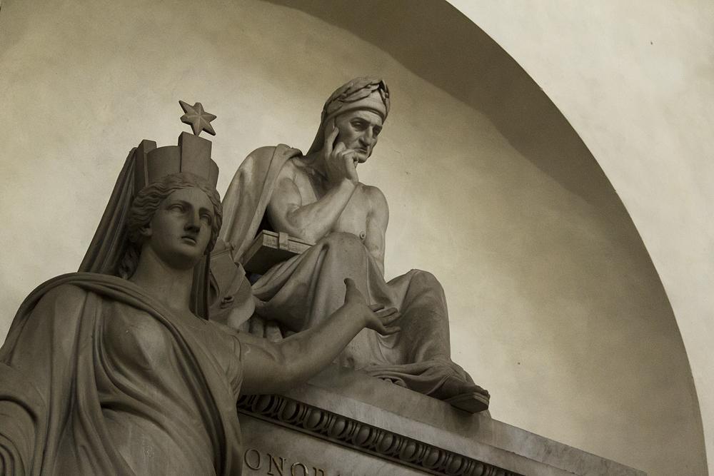 Florenz, Santa Croce, Monumento a Dante Alighieri , Stefano Ricci