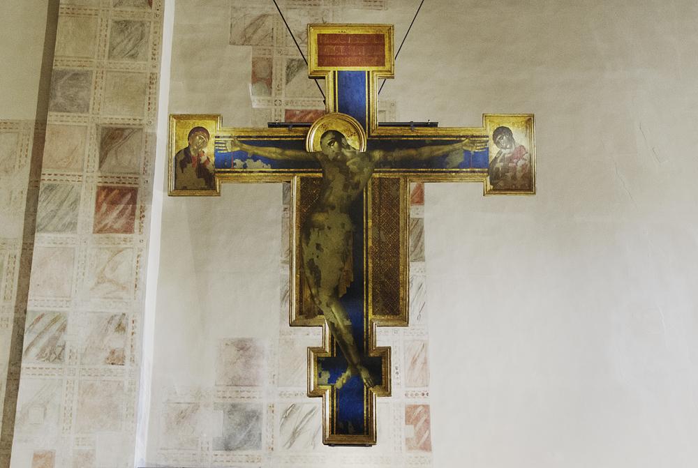 Florenz, Santa Croce, Kruzifix von Cimabue