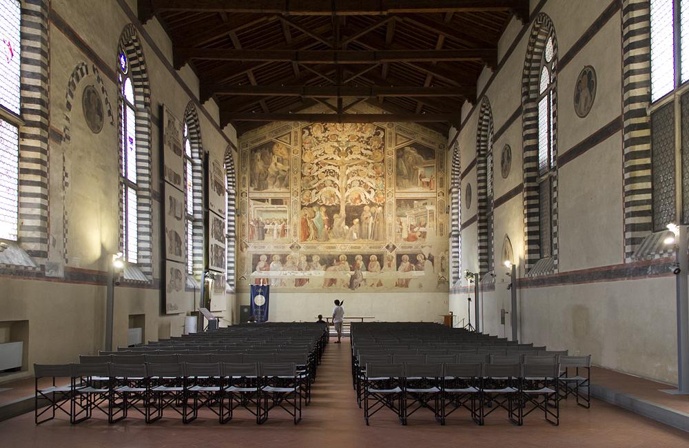 Florenz, Santa Croce, Abendmahl von Taddeo Gaddi, Museo dell'Opera