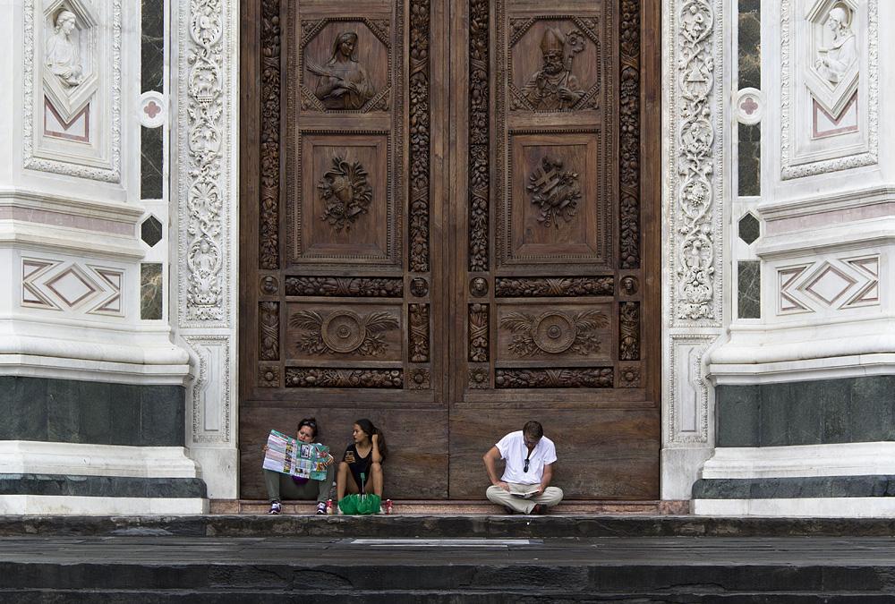 Florenz, Santa Croce, Eingang