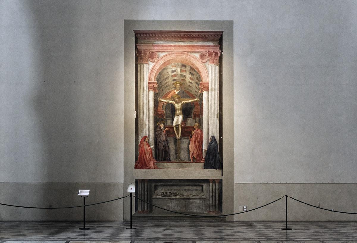 Firenze, Santa Maria Novella, Trinität von Masaccio