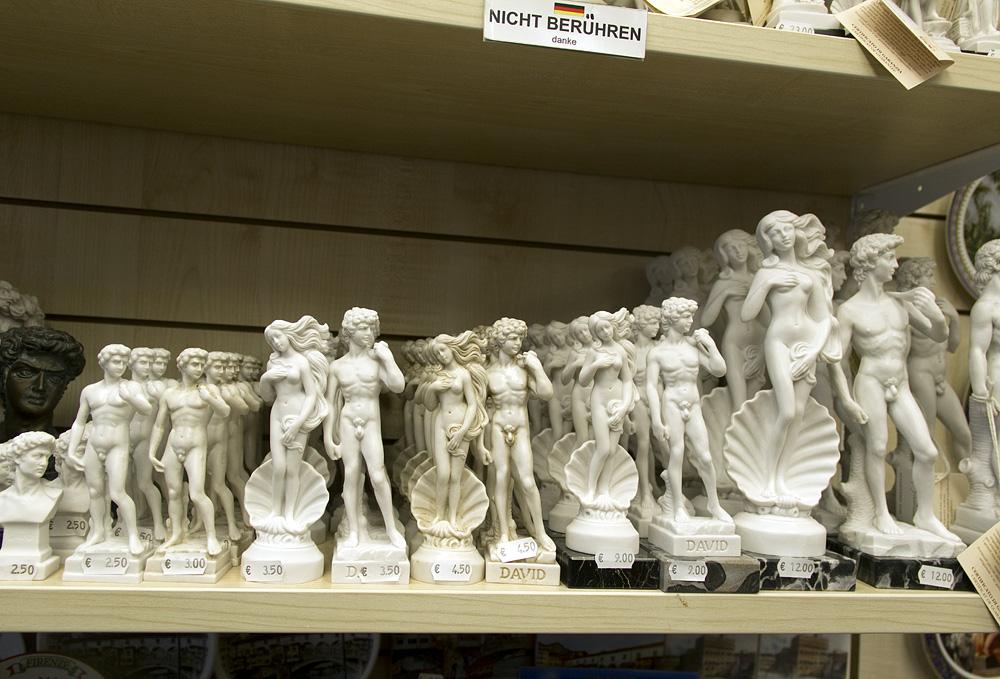 Firenze, Souvenirs, David und Geburt der Venus