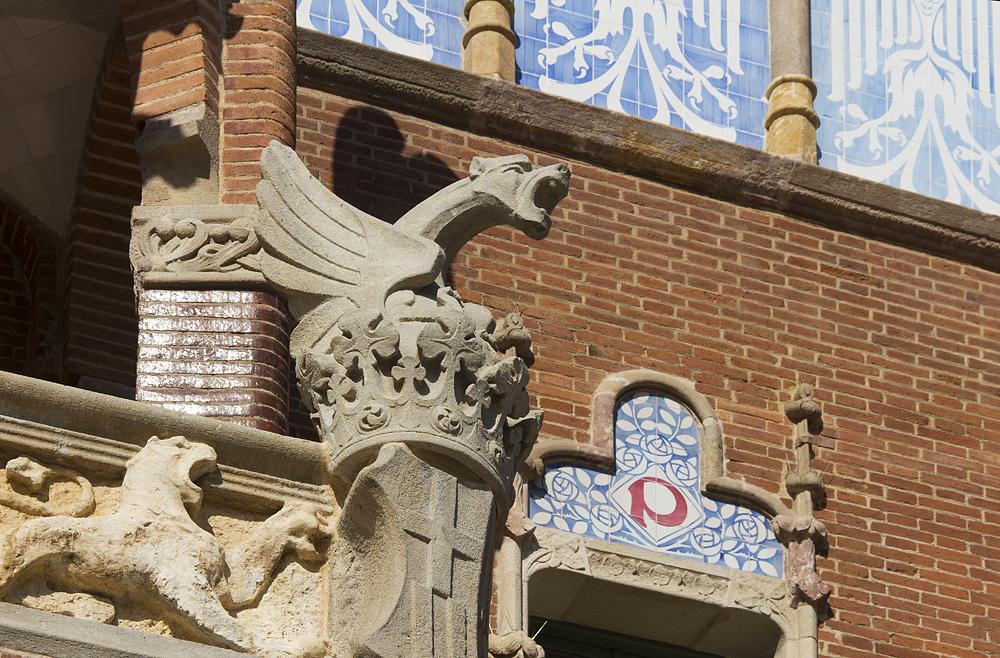 Barcelona, Hospital de la Santa Creu i Sant Pau, Operationsgebäude