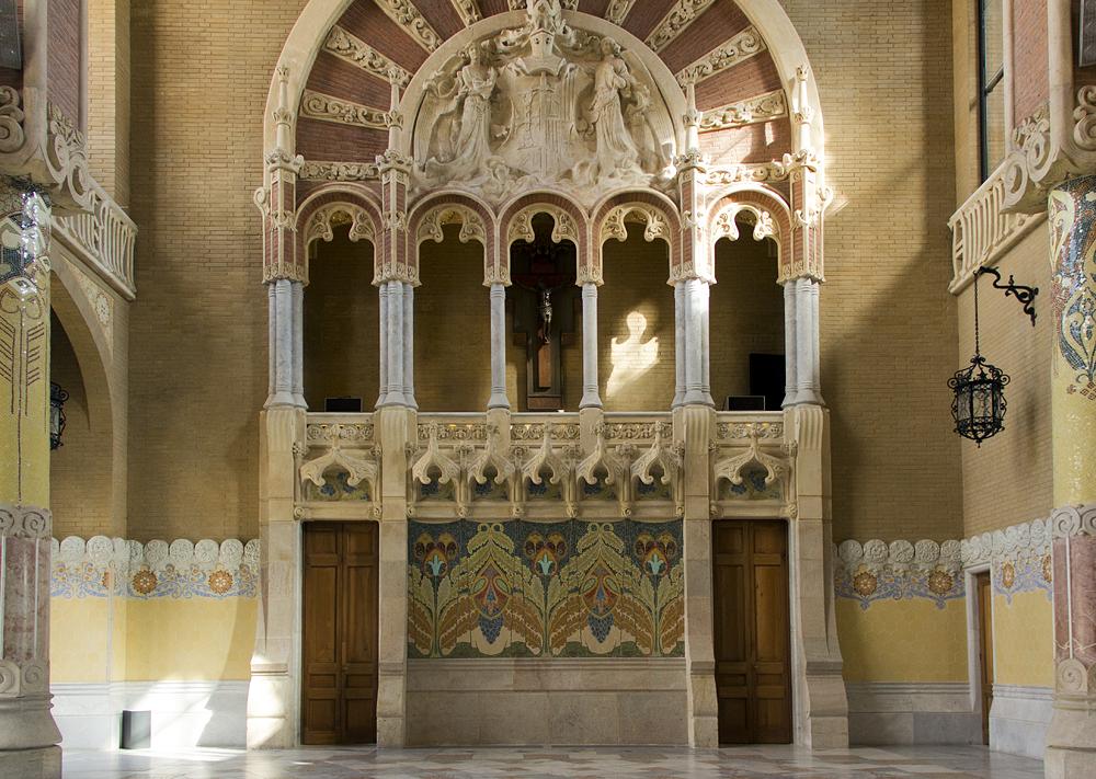 Barcelona, Hospital de la Santa Creu i Sant Pau, Administració, Sala Lluís Domènech i Montaner