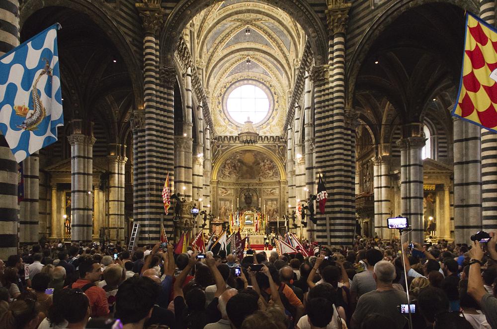 Siena, Palio 2015, Corteo dei Ceri, historischer Umzug