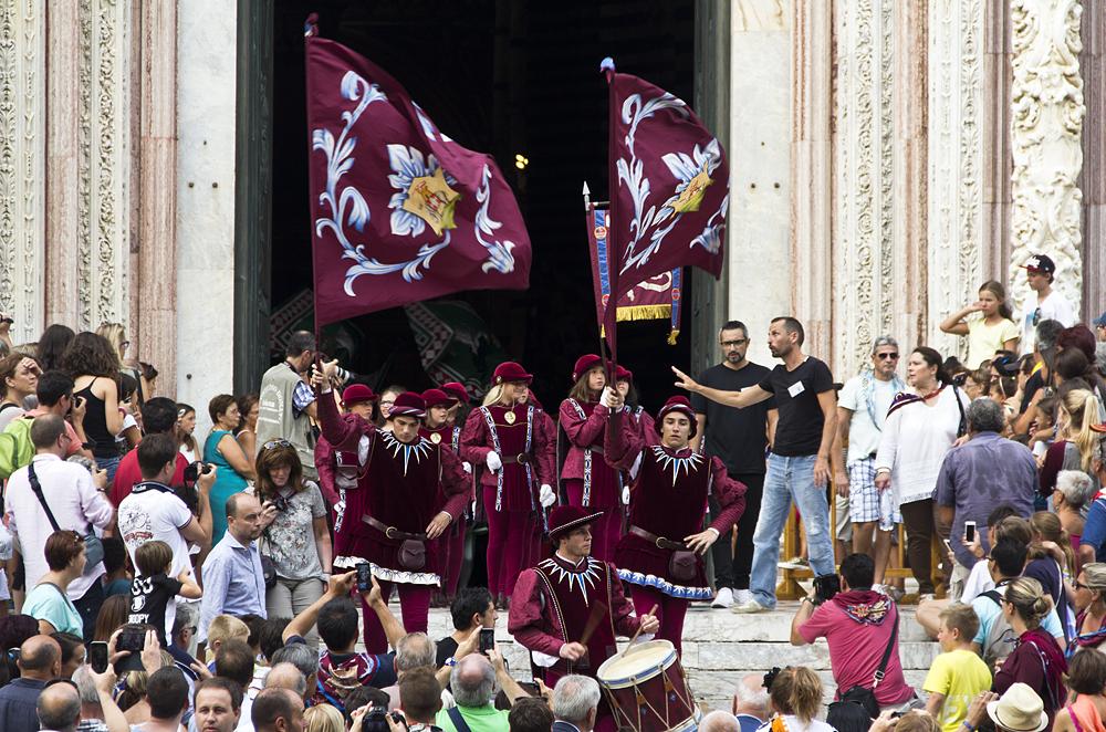 Siena, Palio 2015, Corteo dei Ceri, Duomo, historischer Umzug