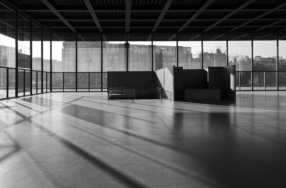Neue Nationalgalerie, Berlin, Mies van der Rohe, Obere Halle