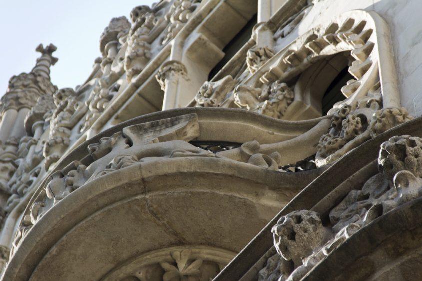 Barcelona, Casa Lleó i Morera von Lluís Domènech i Montaner, Balkon