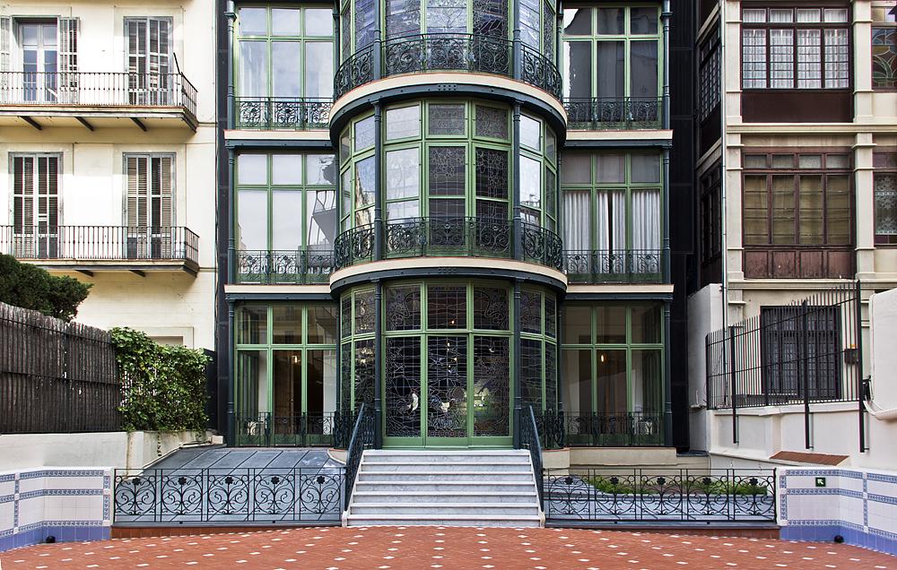 Barcelona, Casa Lleó i Morera von Lluís Domènech i Montaner, Rückseite