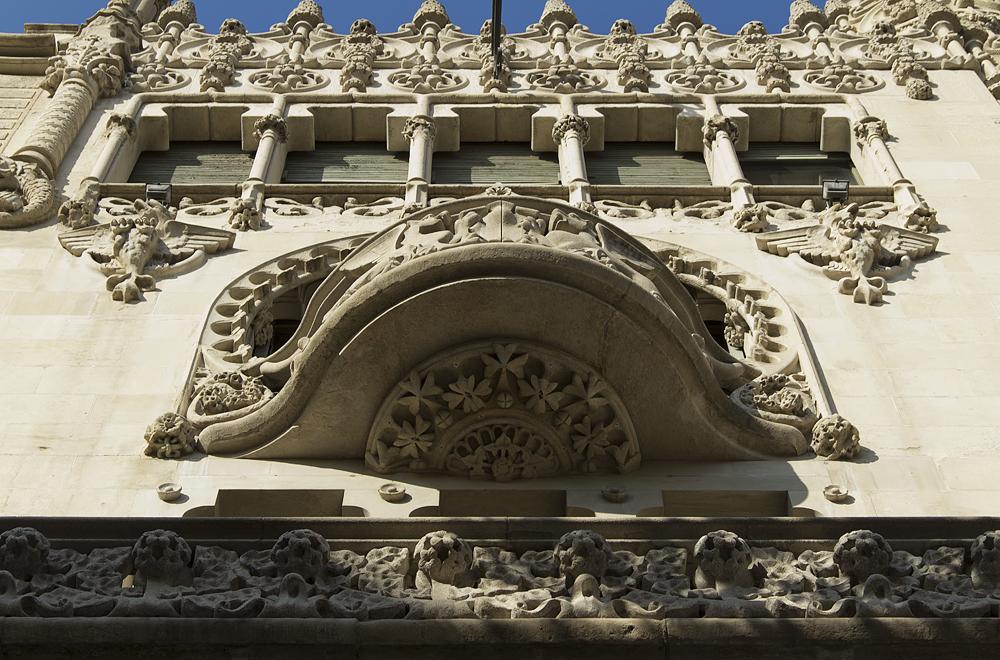 Barcelona, Casa Lleó i Morera von Lluís Domènech i Montaner, Fassade