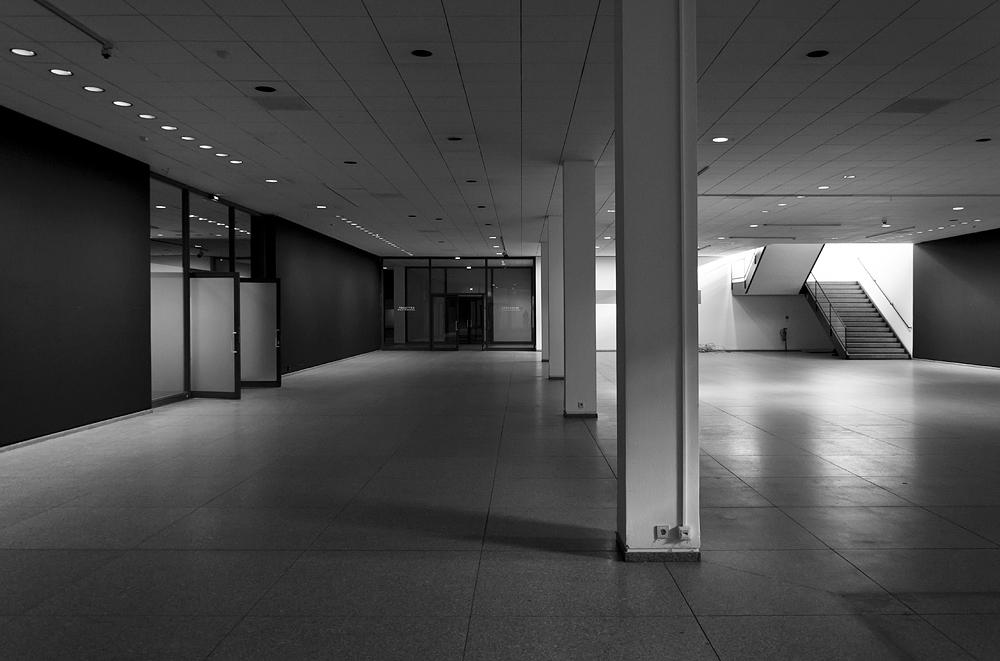 Neue Nationalgalerie, Berlin, Mies van der Rohe, Unteres Foyer