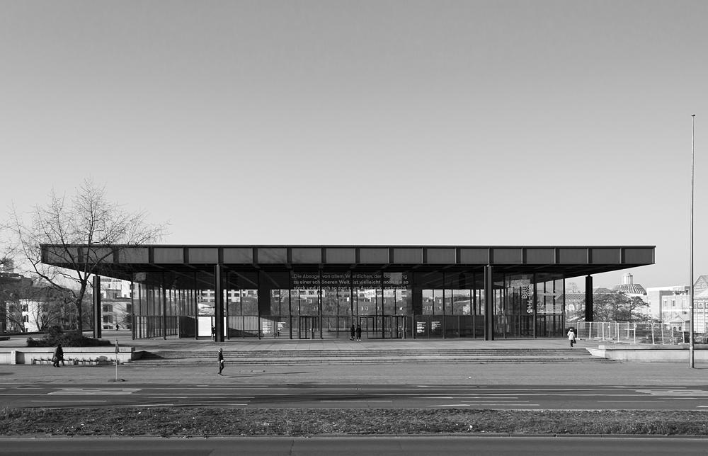 Neue Nationalgalerie, Berlin, Fassade