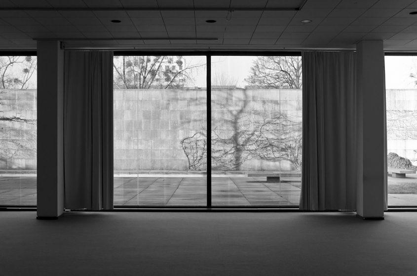 Neue Nationalgalerie, Berlin, Mies van der Rohe, Gartensaal