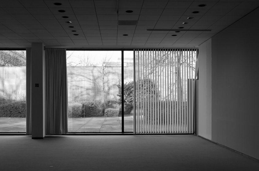 Neue Nationalgalerie, Berlin, Mies van der Rohe, Garten