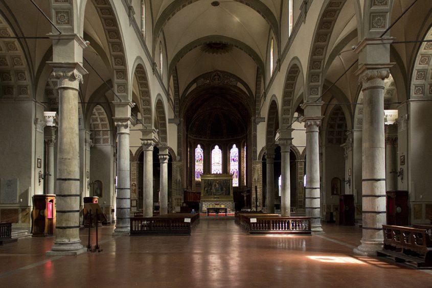 Siena, Basilica di San Francesco, Innenraum