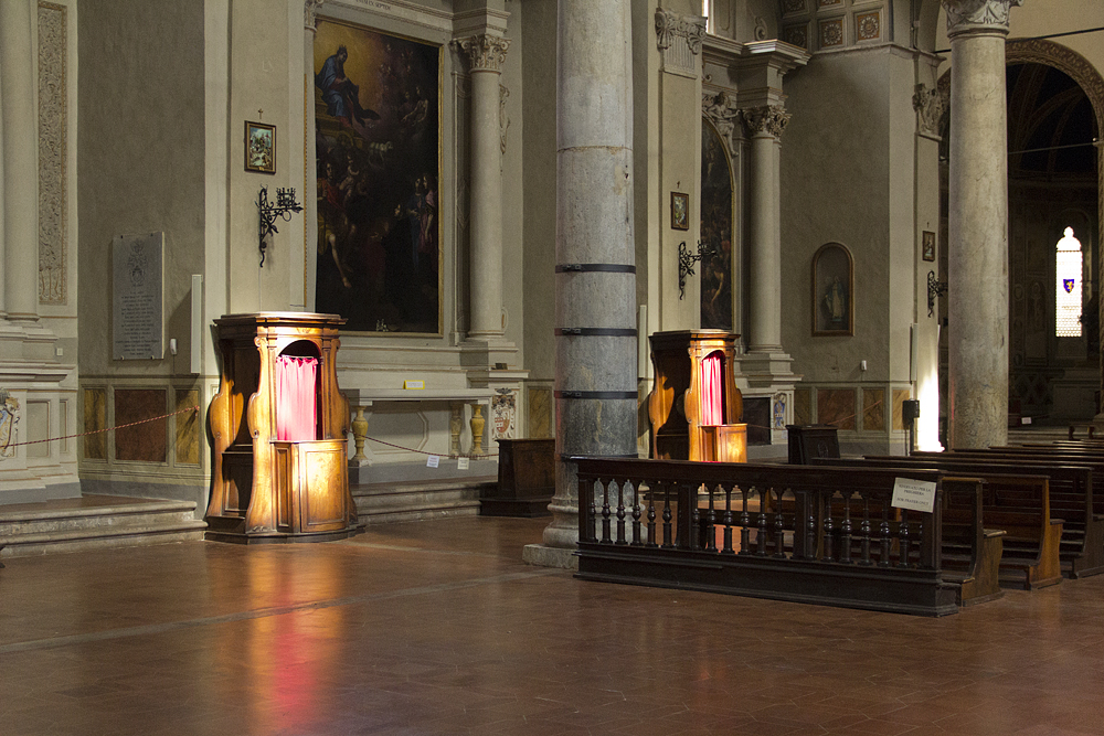 Siena, Basilica di San Francesco, Beichtstühle