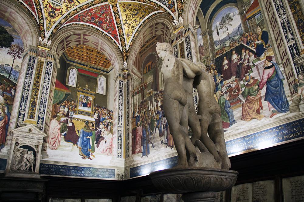 Duomo di Siena, Drei Grazien in der Piccolomini-Bibliothek