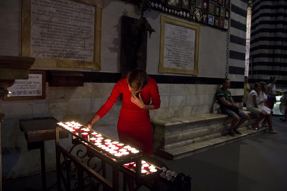 Duomo die Siena, Kerzen